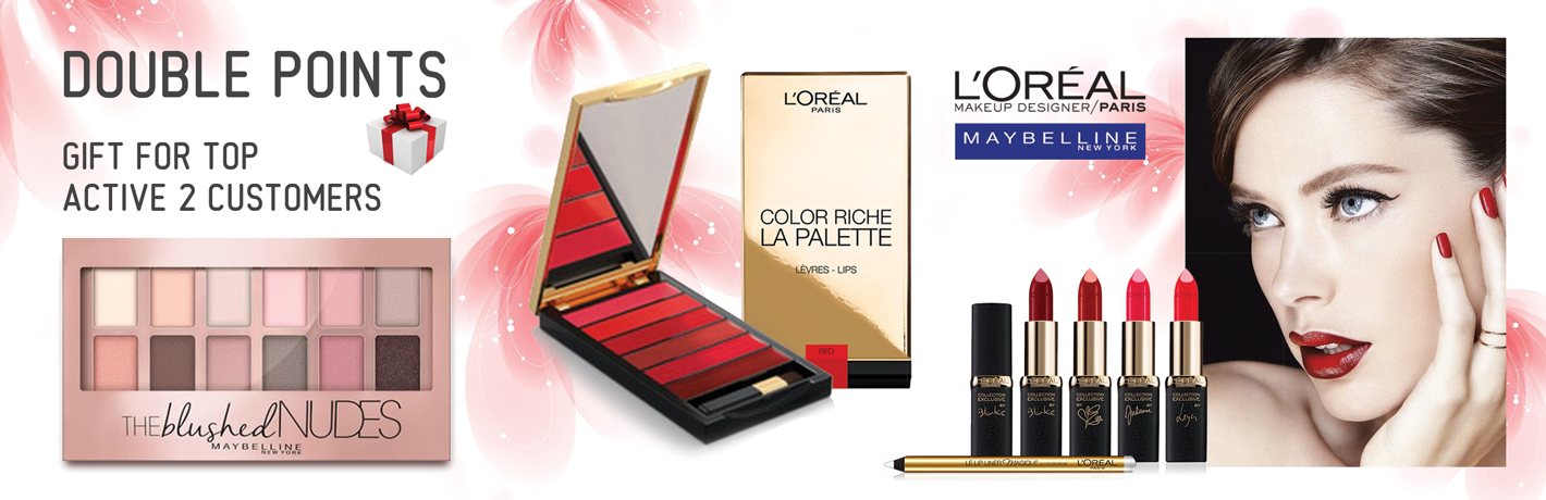 Double points and the offer of presents in MAYBELLINE/L'OREAL